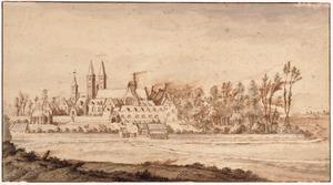 Abdij van Egmond-Binnen, gezien vanuit het zuid-zuidoosten