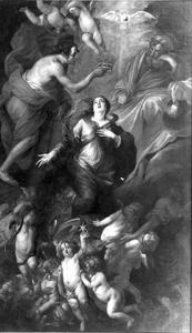 De kroning van Maria door de H. drievuldigheid (Matteüs 28, Marcus 16, Lucas 24, Johannes 20-21)