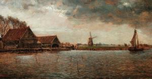 Landschap in de omgeving van Haarlem