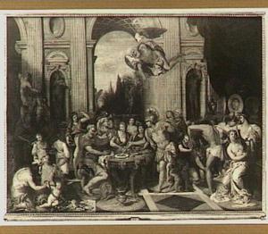 Astyages dwingt Harpagus het vlees van zijn eigen zoon te eten (?)