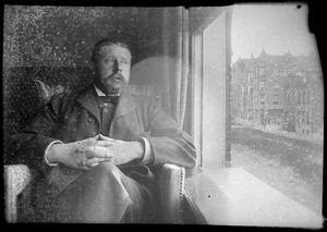 Zelfportret van George Hendrik Breitner aan de Overtoom te Amsterdam