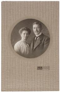 Portret van Pieter Aldert Boerma (1887-1962) en Gertruida Pieterdina Venhuis (1887-...)