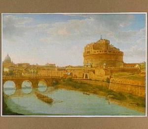 Gezicht op Castel Sant'Angelo ofwel de Engelenburcht in Rome