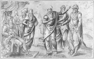 De drie wijzen bij Herodes (Matteüs 2:7-8)