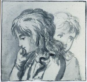 Koppen van twee kinderen