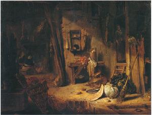 Interieur van een boerenkeuken