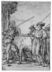 Baljuw laat de koe wegvoeren