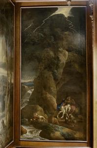 Vrijage van Aeneas en Dido in de grot (Aeneis IV, 160-172)