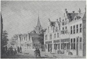 Kruisstraat, Visbrug en Kerkstraat in Woerden