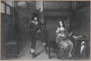Portret van een onbekend musicerend echtpaar