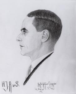 Portret van Hendrik Jan Abraham van Son (1881-1953)