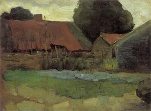 Farmstead in Het Gooi with three buildings