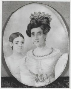 Dubbelportret van Marie Desirée Laval (....-....) en Marie Clélie Tissot (1823-1861)