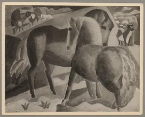 Compositie met paarden