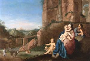 De rust op de vlucht naar Egypte, met Johannes de Doper