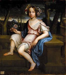Portret van Henrietta von Braunschweig-Lüneburg, tweede dochter van hertog Johannes Friedrich von Braunschweig-Lüneburg en hertogin Bendicta-Henrietta van de Pfaltz als de godin Flora