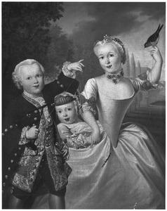 Portret van Maria le Leu de Wilhem (1731-1748), Daniël le Leu de Wilhem (1737-1766) en Constantijn le Leu de Wilhem (1738-1748)