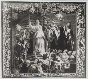 Judith toont het hoofd van Holofernes aan het volk (Judith 19)