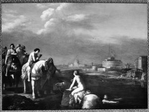 Cloelia en haar gezellinnen ontsnappen uit het legerkamp van Porsenna
