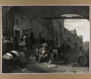 Kooplieden in een zuidelijke stad