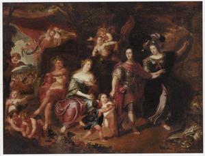 Allegorische voorstelling van de keuze tussen deugd en ondeugd: Hercules op de tweesprong