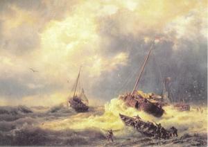 De Hollandse kust bij storm