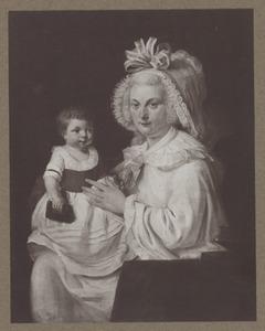 Dubbelportret van Anna Elisabeth Menkema (1751-1815) en haar zoon, waarschijnlijk Theodorus Johannes Kerkhoven (1789-1857)