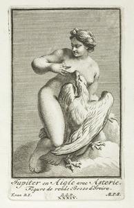 De als adelaar vermomde Jupiter met Asteria (pl. XXXIV)