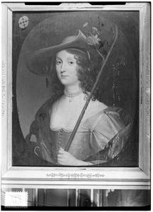 Portret van vrouw als herderin, traditioneel genaamd vrouw uit de familie Van Lockhorst