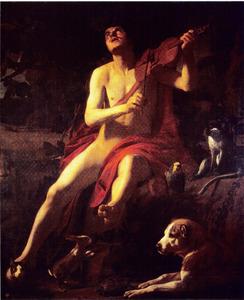 Orfeus spelend op een viool