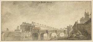 De Pont-Neuf in Parijs gezicht vanuit het westen
