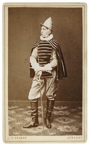 Portret van Adriaan Maarten Marie Montijn (1863-1934) als Hollandsche ruiter