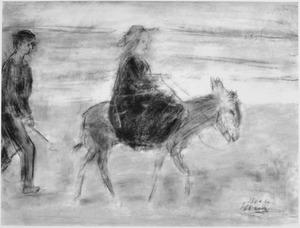 Ezeltje rijden op het strand