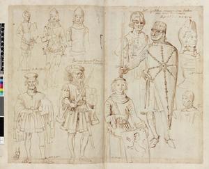 Studie van Willem van Normandië, Arnulf II van Vlaanderen en acht edellieden