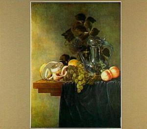 Stilleven met vruchten en een Jan Steen-kan