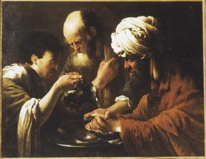 Pilatus wast zijn handen in onschuld (Matt.27, Joh.19)