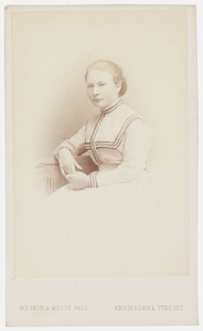 Portret van Bertha Johanna van der Vliet (1854-1917)