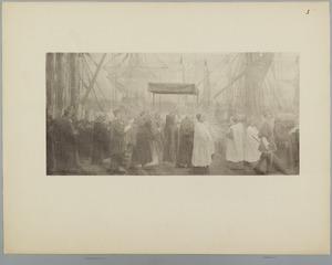 De processie van het Heilig Sacrament van Mirakel, linker gedeelte