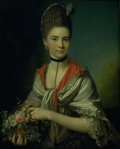 Portret van Anna Elisabeth Battier (1755-1793)