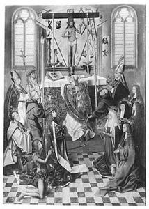 De Gregoriusmis in aanwezigheid van heiligen