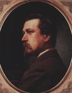 Portret van Charles Sebastien Pierre Hubert de Haes (1826-1898)