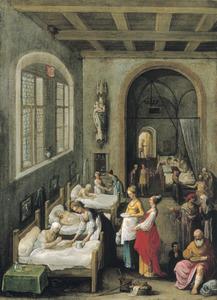Sint-Elizabeth bezoekt de zieken