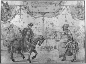 Dubbelportret van Engelbert I van Nassau en Johanna van Polanen (1392-1445)