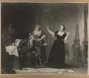 Le malade imaginaire naar Molière derde bedrijf, vijfde toneel