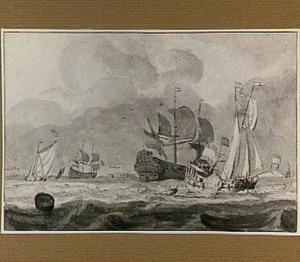 Zeegezicht met schepen