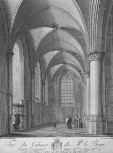 Interieur van de St. Bavo-kerk te Haarlem, de zuidbeuk gezien naar het westen