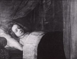 Portret van een gestorven kind, mogelijk uit de familie Van Tuyll van Serooskerken