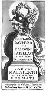 Titelpagina voor B. Bauhuis en B. Cabilliau, Epigrammata, C. Malapert, Poemata, Antwerpen 1634