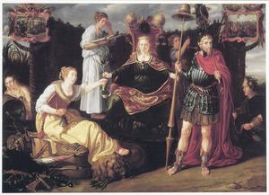 Allegorie op de bloei van de Republiek onder prins Maurits