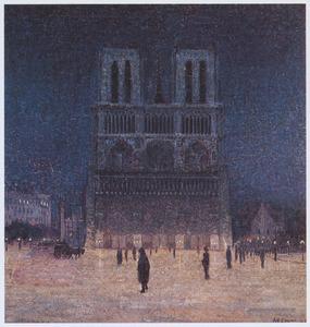 Gezicht op de Notre Dame, Parijs